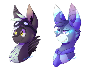 Chuck and NeonSparks || Busts by MasterOshawott