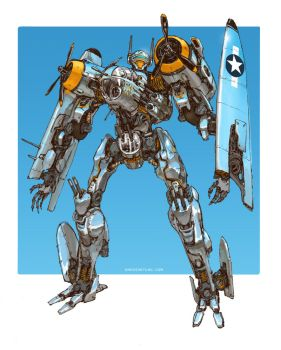 Transformers - Jetfire B25 Bomber Variant by emersontung