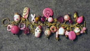 Pink Sweets Charm Bracelet by mintdawn