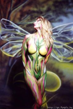 butterfly effect by bodypainting
