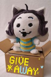 Temmie plush - GIVEAWAY by Fafatacle