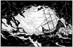 Ship in storm half page by mhelwig