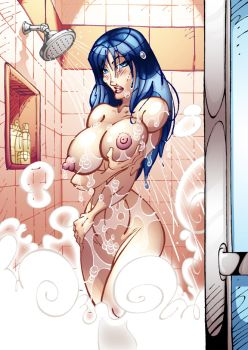 Wonder Woman in the Shower by firstedition