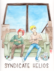 Kenji and Cameron by calliedl