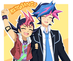 Yuma y Yusaku by YugiNep