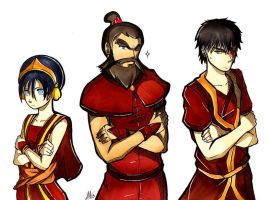 Toph, Zuko, and WANG FIRE: Commission by Smudgeandfrank