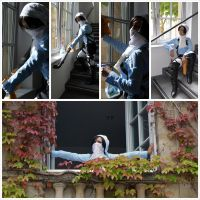 cleaning Levi cosplay by NihonOaisuru