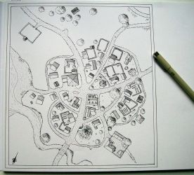 Small village map by Brian-van-Hunsel