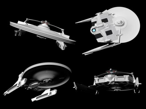 WIP: mystery ship 08, modelling completed. by harroldsheep