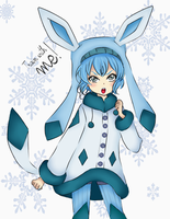 Human Glaceon. by Nirvna-chan