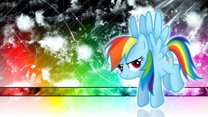 Rainbow Dash Spectral Wallpaper by ALoopyDuck