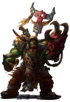 Ork Warboss - Warhammer 40,000:Only War by jubjubjedi