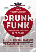 Drunk Funk party flyer by 2NiNe