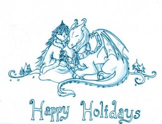 Dragon and Pine Spirit Holiday by eto