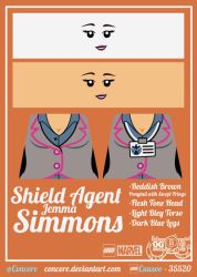 LEGO SHIELD Agent - Simmons by Concore