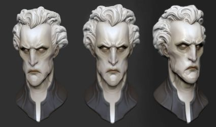pale head study by GrayGinther