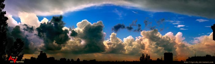Clouds over city by ukraine-photo