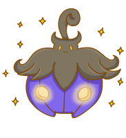 Shiny Pumpkaboo by poke-helioptile294