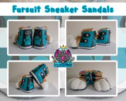 Fursuit Sneaker Sandals by FurryFursuitMaker