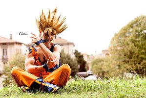 Goku Cosplay .:Training:. by Alexcloudsquall