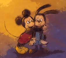 Mickey and His Big Brother by DrZime