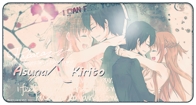 Asuna X Kirito - Signature by MaryLander97