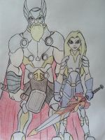 Thor and Torunn by Zigwolf