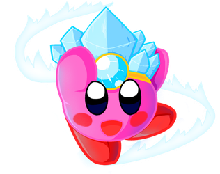 Ice Kirby by Lithium-Polygon