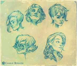 Sketches XIX by Charlie-Bowater
