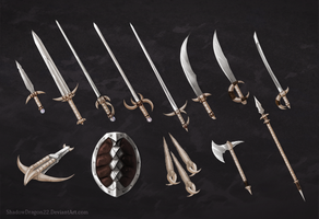 Mermaid Pirate Weapons Commission Batch by ShadowDragon22