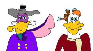 Darkwing Duck and Launchpad McQuack by MikeJEddyNSGamer89