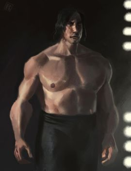 Shirtless Kylo (Ben Swolo) by RAPHTOR