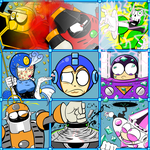 The Megaman 9 Bunch by CyberMoonStudios