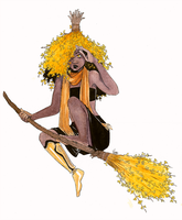 Forsythia Witch by yinza