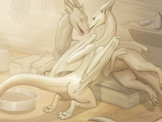 Dragon sauna part 4 by KodarDragon