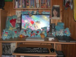 My desk-The Totodile Territory by Dracomonstar