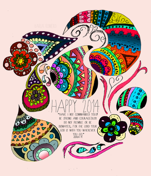 Happy 2k14! Doodle by kailascribbles