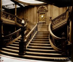 Titanic grand staircase by VelkokneznaMaria