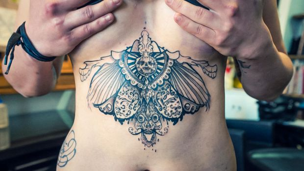 skull tattoo wings 6 by RemiisMeltingDots