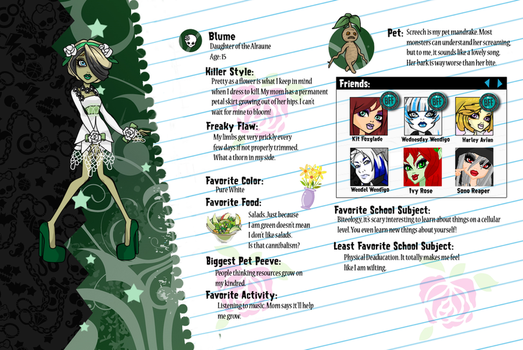 Monster High Blume profile by Shadow-People