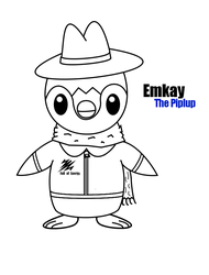 Emkay the Piplup : Lineart by Zehdils