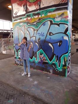 The Graffiti is made by my dad by Muffy-Arts