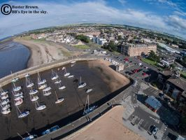 Fisherrow Harbour From the sky by BusterBrownBB
