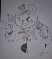 Withered Freddy doodle by SideshowFreddy