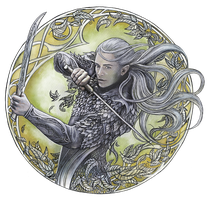 Warrior of Mirkwood by JankaLateckova