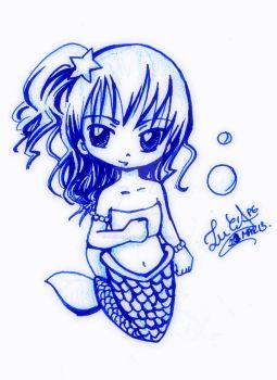 Chibi Mermaid by Lucia-95RduS