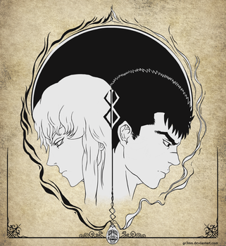Berserk, Guts and Griffith Eclipse by GR3MN