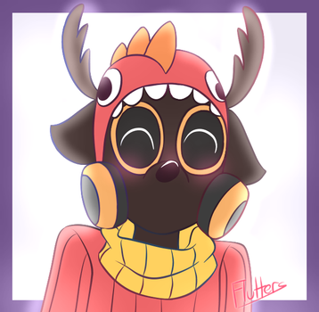 Pyro the Flamedeer icon by FluttersDreams