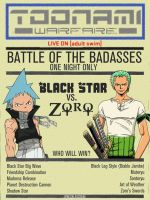 Toonami Warfare: Black Star vs. Zoro by JPReckless2444