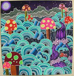 Forest of the Fluoro Fungi by mooshroom